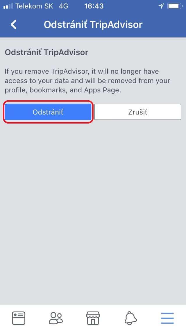 Applikácie odstrániť